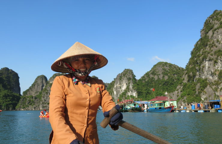 Vietnam Lady In Boat